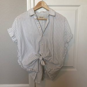 Madewell Ruffle Courier Button Down